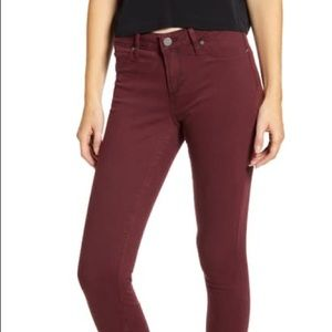 Rich red jeans